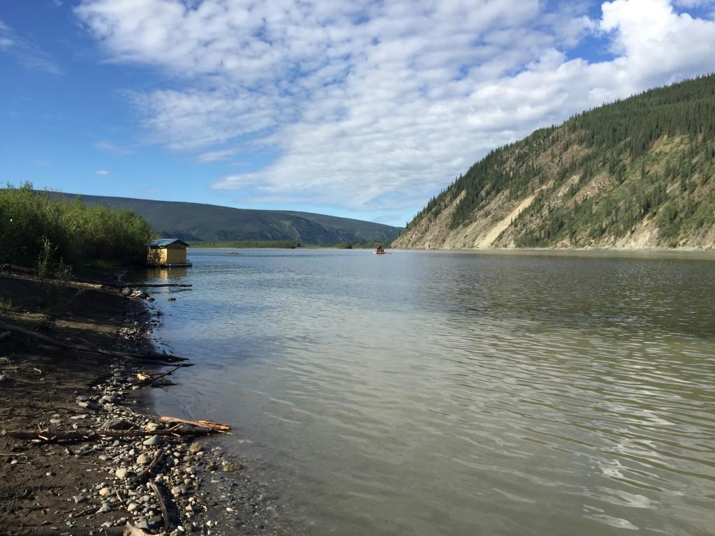 Yukon River at Dawson June 2015