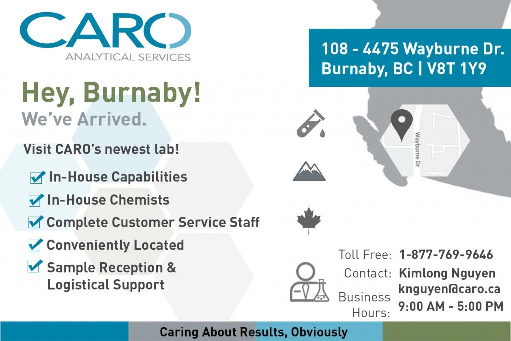 Burnaby Lab Announcement | CARO ca