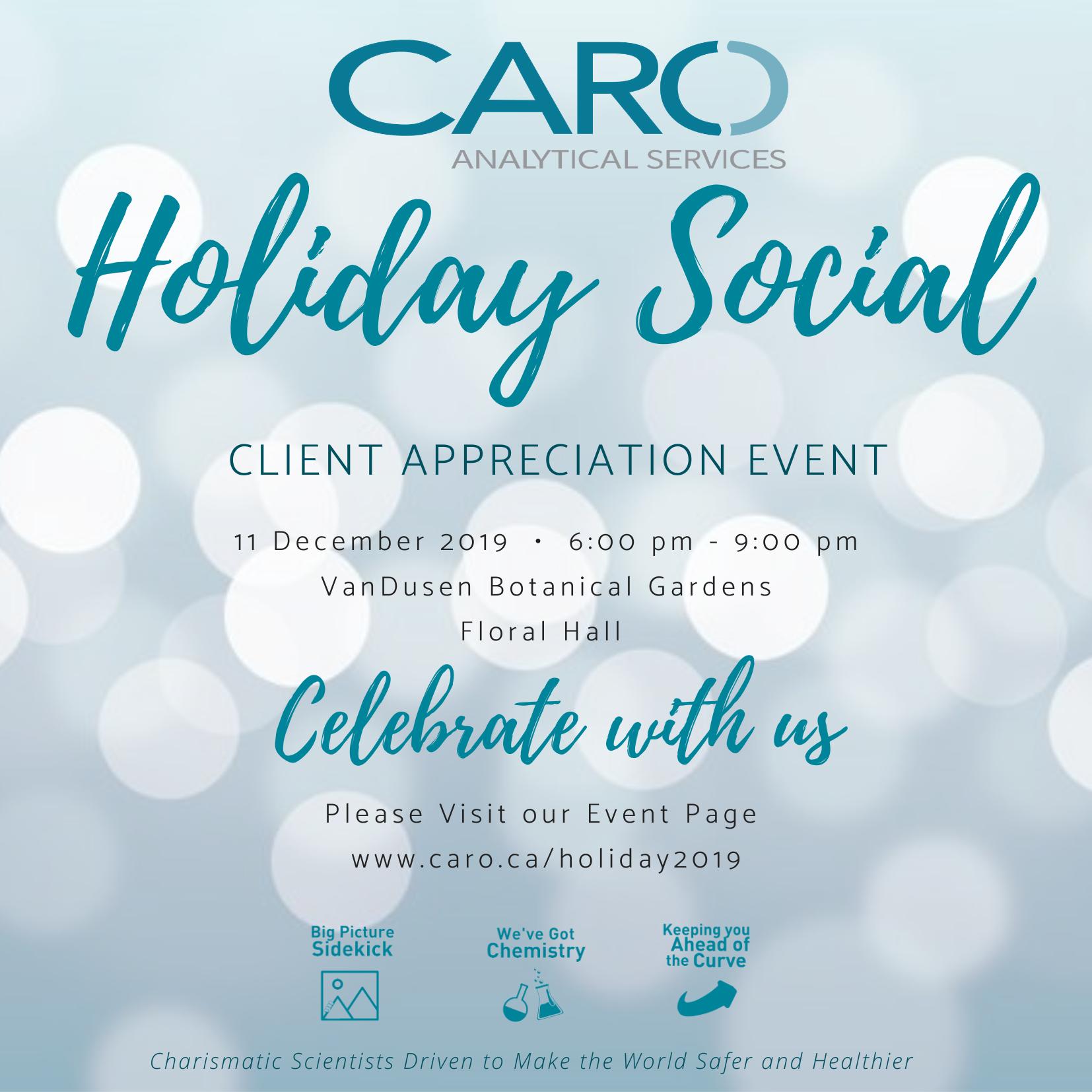 2019 Client Appreciation Invite CARO