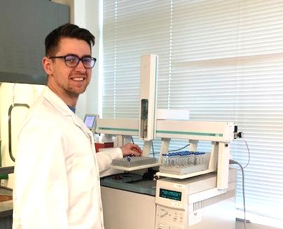 scientist testing at caro