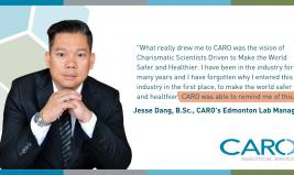 Jesse Dang, B.Sc., CARO's Edmonton Lab Manager